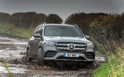 Mercedes-Benz GLS 400, 4k, offroad, X167, 2020 cars, SUVs, 2020 Mercedes-Benz GLS-class, UK-spec, german cars, Mercedes