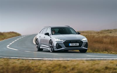 4k, audi rs6 avant, c8, supercars, cars 2020, uk-spec, 2020 audi rs6 avant, german cars, audi