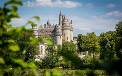 Chateau de Pierrefonds, beautiful castle, french castle, Feudal Castle Pierrefonds, Pierrefonds, Oise, France