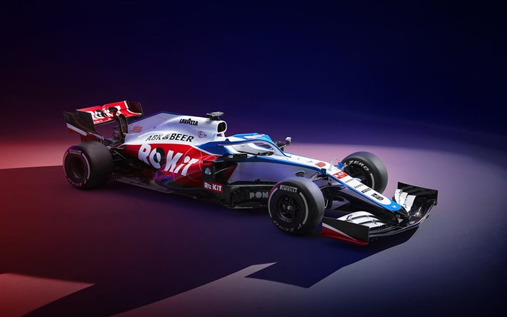 2020, Williams FW43, front view, exterior, new FW43, ROKiT Williams Racing, F1 2020, racing cars, Williams Grand Prix Engineering