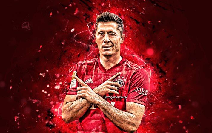ダウンロード画像 ロバート-Lewandowski, 2020, BayernミュンヘンFC, ポーランドサッカー ...