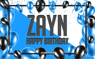 Happy Birthday Zayn, Birthday Balloons Background, Zayn, wallpapers with names, Zayn Happy Birthday, Blue Balloons Birthday Background, greeting card, Zayn Birthday