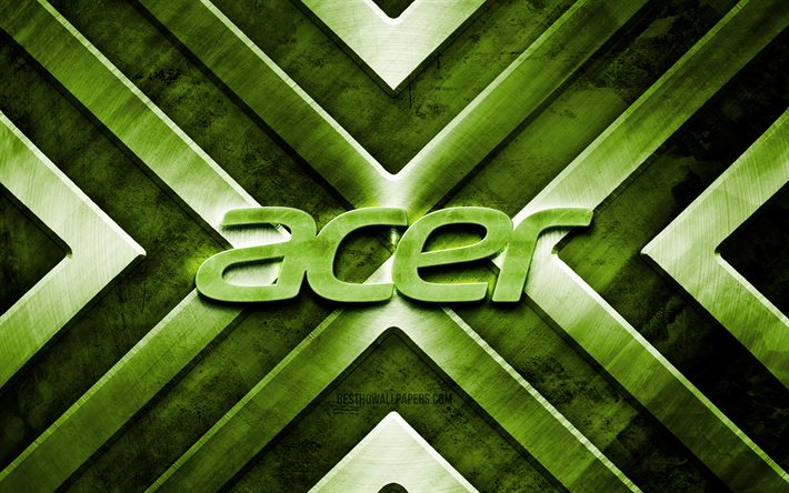 Acer metal logo, 4K, brown metal background, brands, metal arrows, Acer logo, creative, Acer 3D logo, Acer