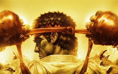 Ryu, 5k, combate, Street Fighter IV