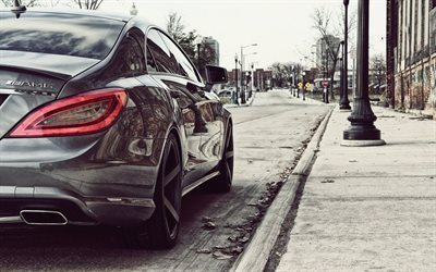 Mercedes-Benz CLS 63 AMG, street, 2017 cars, luxury cars, Mercedes
