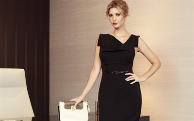 Ivanka Trump, American businesswoman, beautiful woman, blonde, black dress