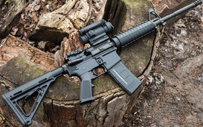 American semi-automatic rifle, AR-15, firearms, USA, special forces weapons