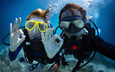 diving, underwater photo, divers, extreme entertainment, diving concepts