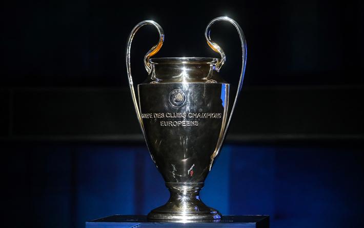 T l charger fonds d 39 cran l 39 uefa champions de la coupe de la ligue 4k le troph e de la ligue - Coupe de ligue des champions ...