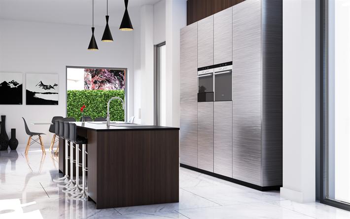 Descargar fondos de pantalla cocina, 4k, interior de estilo, color ...