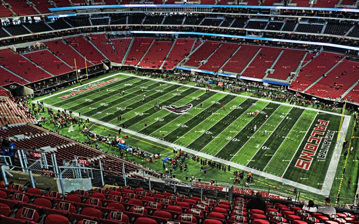 Download wallpapers Mercedes-Benz Stadium, Atlanta Falcons ...