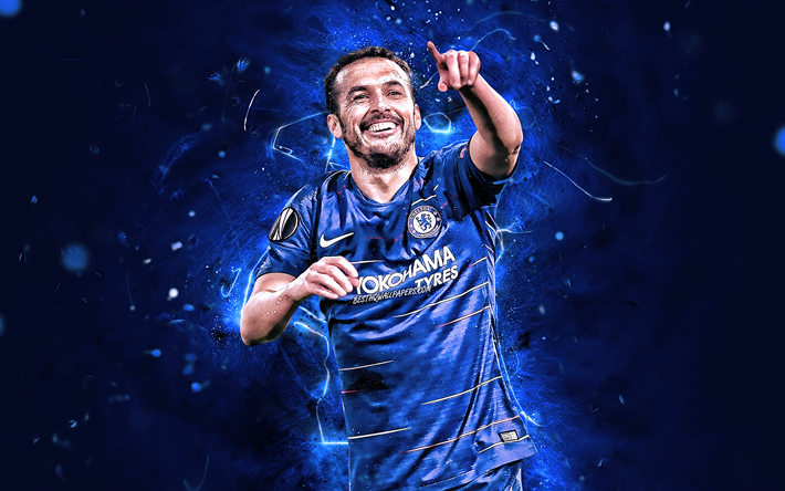 Download wallpapers Pedro, close-up, Chelsea FC, spanish