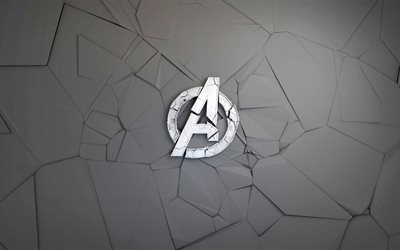 The Avengers, Creative logo, destroyed symbol, polygon style, new movies, comics