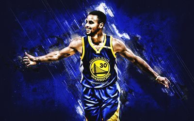 Stephen Curry, grunge, Golden State Warriors, stars du basket-ball, NBA, Wardell Stephen Curry II, basket-ball, la pierre bleue, créatif, états-unis