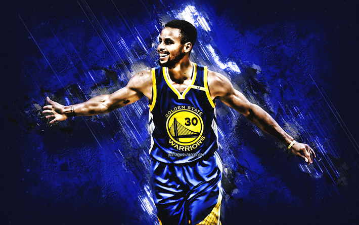 Download Wallpapers Stephen Curry, Grunge, Golden State