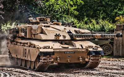 Challenger 1, 4k, HDR, tanks, British MBT, British Army, sand camouflage, armored vehicles, The FV40304 Challenger 1