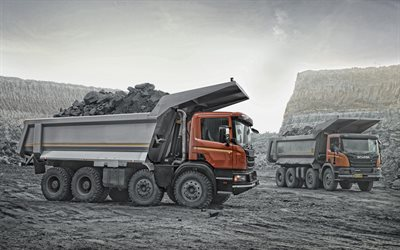 Scania P440, CB8X4 EHZ, dump trucks, Scania P410, new trucks, coal mining concepts, Scania