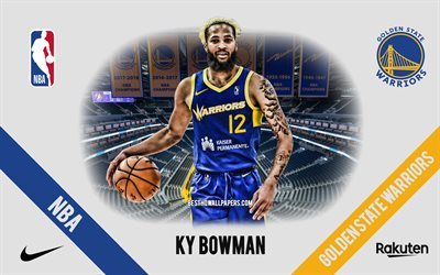 Ky Bowman, Golden State Warriors, Giocatore di Basket Americano, NBA, ritratto, stati UNITI, basket, Caccia Center, Golden State Warriors logo
