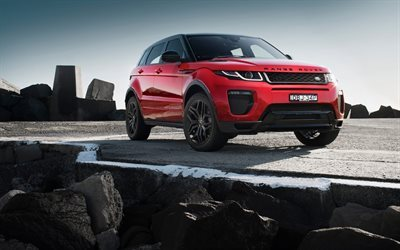 Land Rover, Range Rover Evoque, 2017, Crossover, red Evoque