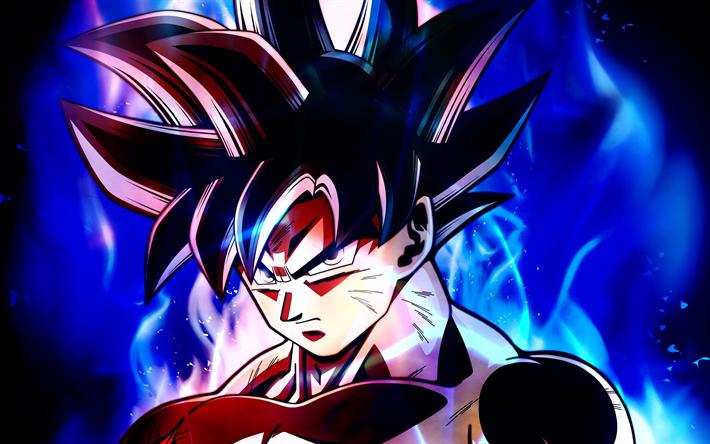 Ultra Instinct Goku 4k Blue Fire Dragon Ball Migatte No Gokui