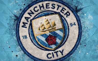 Download wallpapers Manchester City FC, 4k, logo ...