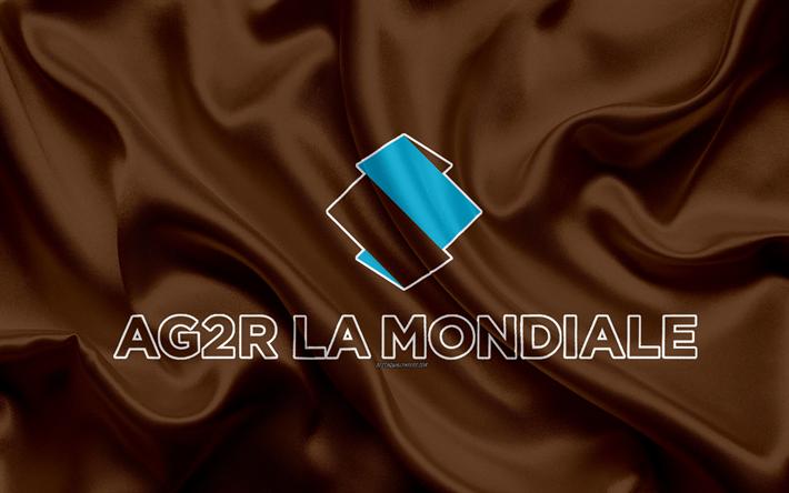Download Wallpapers Ag2r La Mondiale 4k Logo French Road