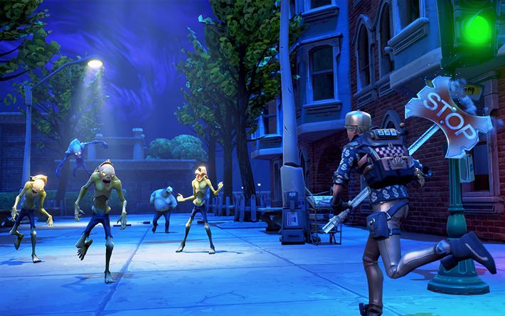 Scarica Sfondi 4k Fortnite Battle Royale Il Gameplay 2018 Giochi