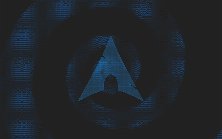 Download Wallpapers Arch Linux 4k Logo Minimal Creative