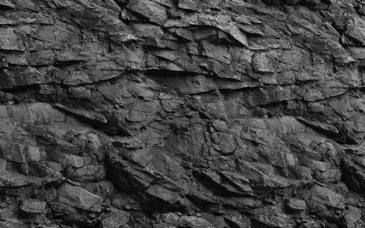 . Download wallpapers black stone wall  4k  black stone texture  black