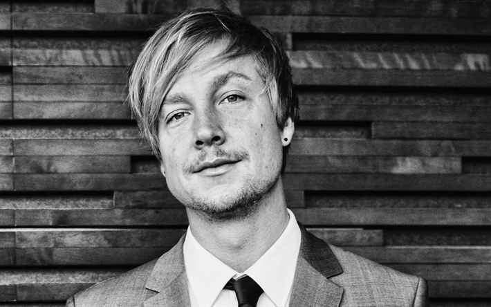 Samu Haber, Finnish singer, portrait, photoshoot, monochrome, Finnish celebrities