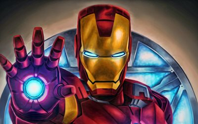 IronMan, digital art, DC Comics, Iron Man, superheroes, fan art
