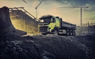Volvo FMX 540, 4k, HDR, 2019 trucks, construction vehicles, 2019 Volvo FMX, special equipment, Volvo