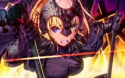 Jeanne d Arc, battle, Fate Grand Order, Alter, manga, Avenger, Fate Series, TYPE-MOON