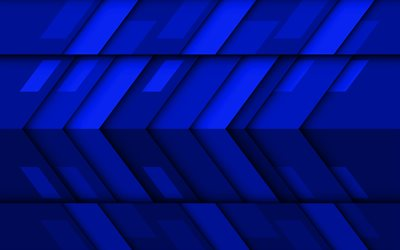 dark blue arrows, 4k, material design, creative, geometric shapes, lollipop, arrows, dark blue material design, strips, geometry, dark blue backgrounds
