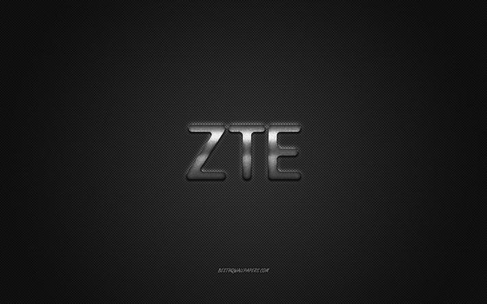 Download Wallpapers Zte Logo Silver Shiny Logo Zte Metal