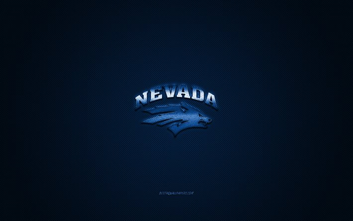 Download Wallpapers Nevada Wolf Pack Logo American Football Club Ncaa Blue Logo Blue Carbon Fiber Background American Football Reno Nevada Usa Nevada Wolf Pack For Desktop Free Pictures For Desktop Free