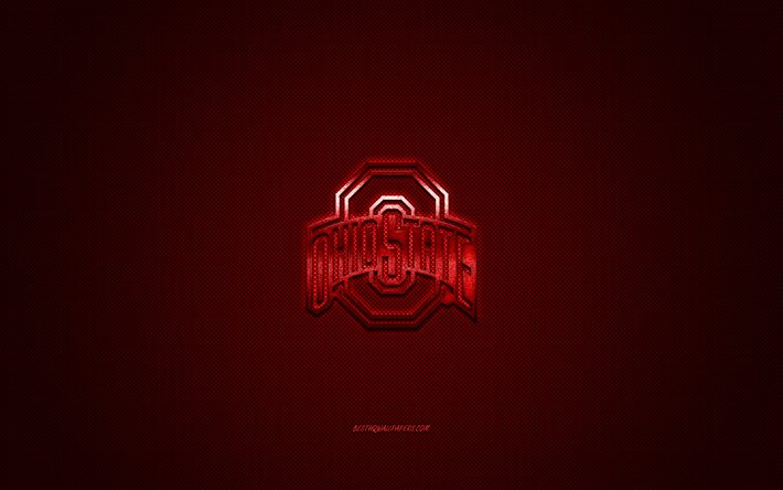 Download Wallpapers Ohio State Buckeyes Logo American Football Club Ncaa Red Logo Red Carbon Fiber Background American Football Columbus Ohio Usa Ohio State Buckeyes For Desktop Free Pictures For Desktop Free