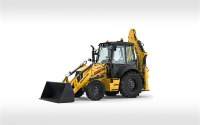 New Holland B100C, wheel loader, Excavator, construction machinery, tractor, New Holland