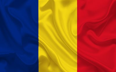 Flag of Romania, Romanian flag, Europe, silk, Romania