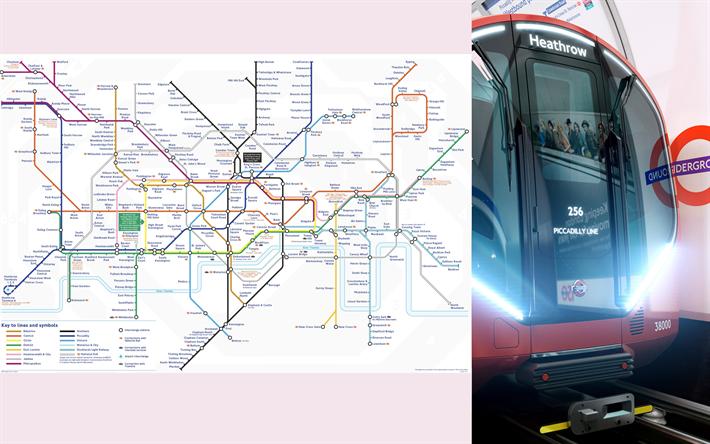Lataa Kuva Lontoon Metro Kartta Yhdistynyt Kuningaskunta Metro