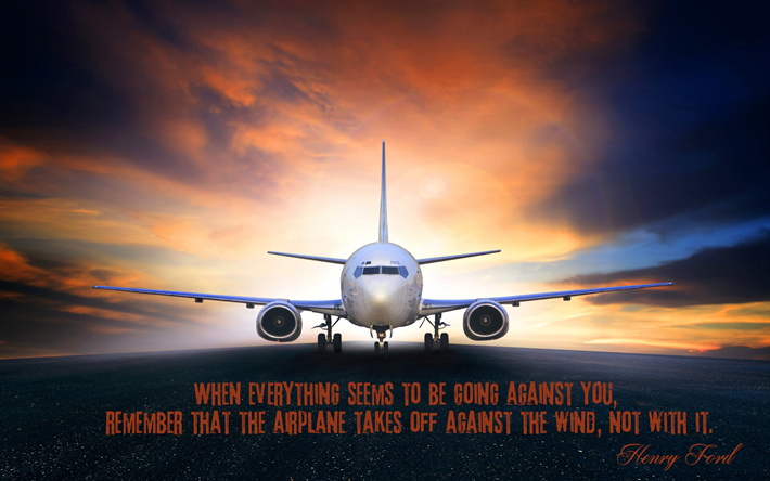 Wallpaper With Quotes Henry Ford Quote Passenger Plane Airplane Motivation