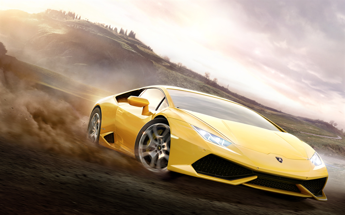 Download Wallpapers Lamborghini Huracan Drift Autosimulator 2018 Games Forza Horizon 3 For Desktop Free Pictures For Desktop Free