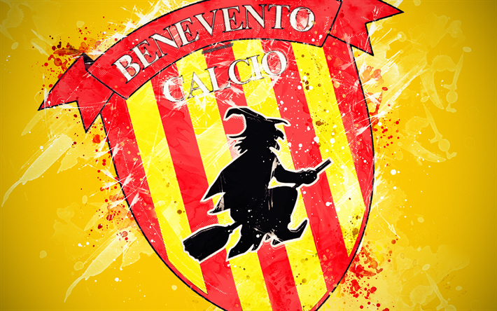 Download wallpapers Benevento FC, 4k, paint art, creative, logo, Italian  football team, Serie B, emblem, yellow background, grunge style, Benevento,  Italy, football, Benevento Calcio for desktop free. Pictures for desktop  free