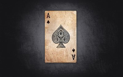 ace of spades, playing cards, creative, art, minimal