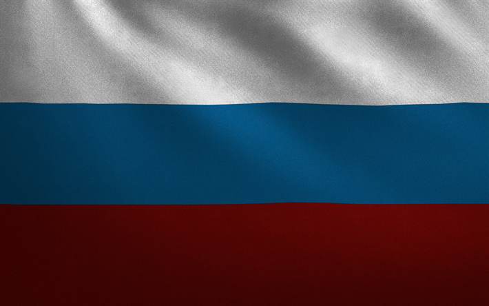 Download Wallpapers Flag Of Russia Fabric Texture White Blue Red