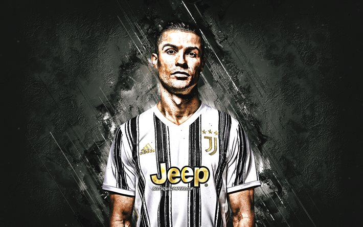 Cristiano Ronaldo, portrait, CR7, Portuguese footballer, Juventus FC, world football star, Juventus 2020 uniforms, football