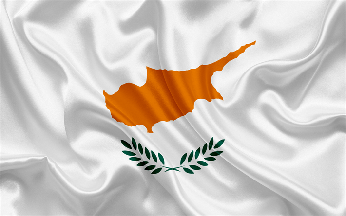 Best Cyprus Cars >> Download wallpapers flag of Cyprus, Europe, Cyprus, white silk flag for desktop free. Pictures ...