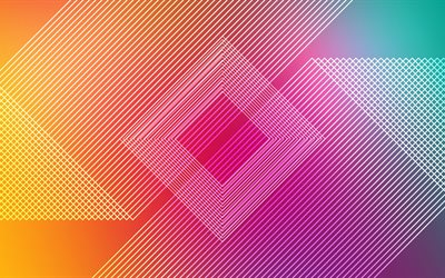 rhombus, 4k, stripes, abstract background, art, lines