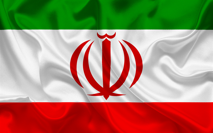 Download Wallpapers Iranian Flag Iran Asia Iran Flag Symbols