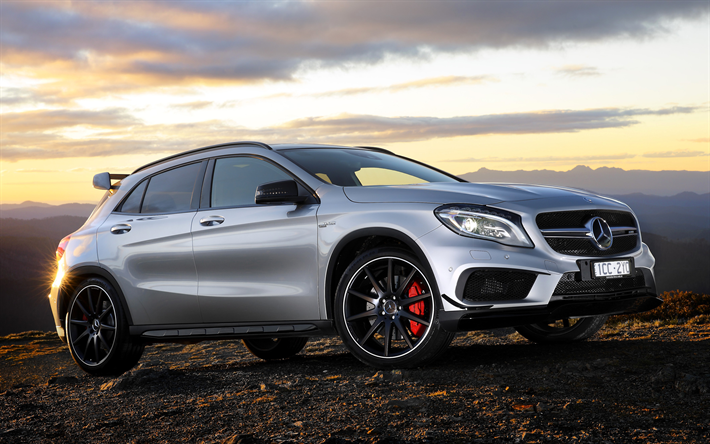 Download Wallpapers Mercedes-Benz GLA45 AMG, 4k, 2018 Cars